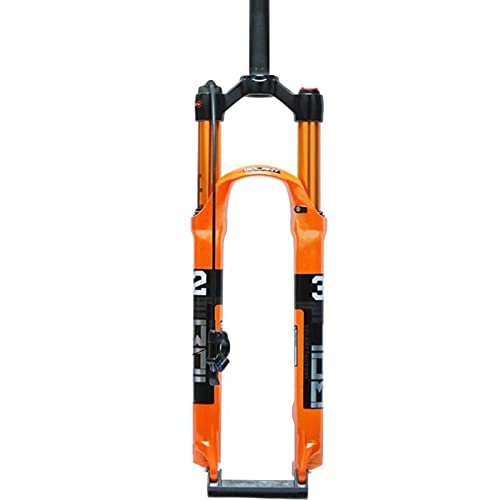 VTDOUQ Horquilla de suspensión de Bicicleta MTB de 26', Horquilla de suspensión de Freno de Disco de Puente Delantero de 1-1/8' de aleación de magnesio para Exteriores de 120 mm
