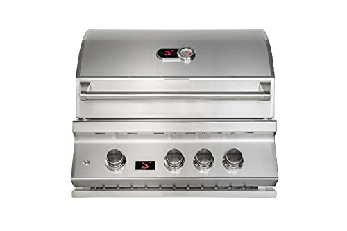 Bonfire CBB3LP 28' 3-Burner Built-in Propane Gas Grill Outdoor with Rear Infrared Burner and Rotisserie,304 Stainless Steel
