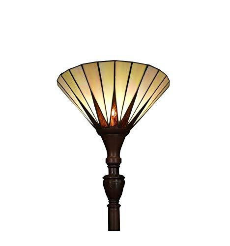 Htdeco - Luminaires - Lampes de table chevet - Lámpara de pie Tiffany -  Serie Memphis