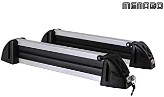 VDP Silver Ice Porte-Skis Extensible 5 Portes Barres de Toit en Aluminium RB003 Compatible avec Mercedes GLC /à partir de 2015