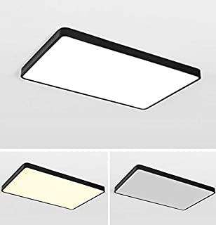 80W Lámpara de techo LED, Blanco frio lámpara de techo LED de ahorro de energía moderna cuadrada ultra delgada para sala de estar, dormitorio, cocina (80W 88x62CM Blanco frio)