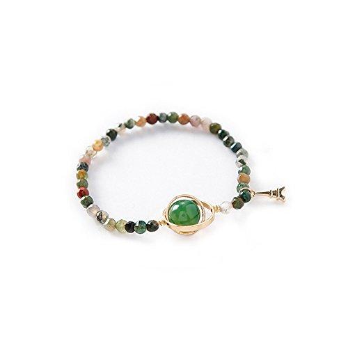 UINGKID Damen-Armband Charm Kreative Stilvolle Mode Bunte Naturstein Perlen Chakra für Frauen Armbänder Schmuck