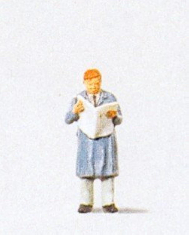 Man Reading Newspaper Standing HO Preiser Models by Preiser
