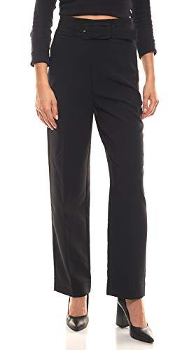 Heine Hose Business-Hose Moderne Damen Stoff-Hose mit Gürtel Freizeit-Hose Workwear Schwarz, Größe:40