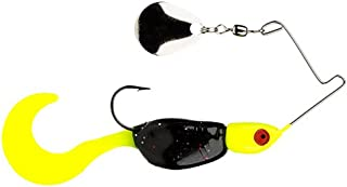 Strike King Lures Mr. Crappie Spin Baby Lure, 1/8 oz, 4 Hook, Tuxedo Black-Chartreuse, Package of 1