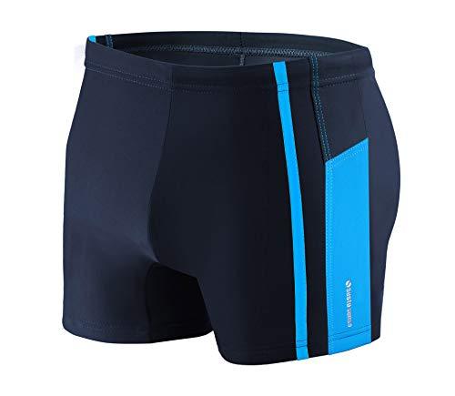 Sesto Senso Herren Badehose Eng Schwimmhose M bis 4XL Enganliegende Bademode Swimming Shorts BD 364 (3XL, Blau)