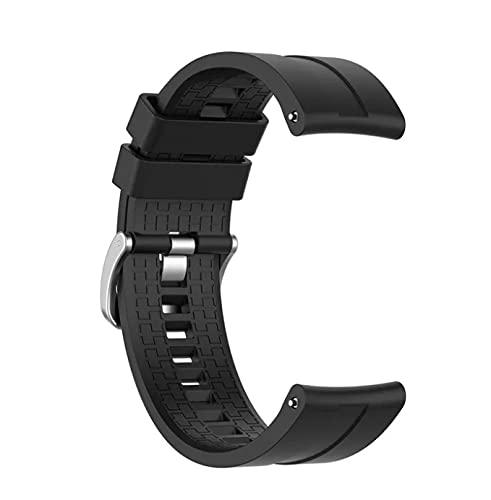 Correa de silicona deportiva para Huawei watch GT 2, 22mm, repuesto de pulsera para Huawei watch GT (Negro)