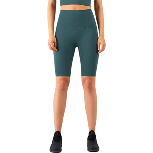 Pantalones cortos de yoga de cintura alta para mujer con control de barriga y cintura alta, 1, M