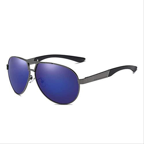 WSGYA Classic Gafas de sol polarizadas para hombres Gafas de sol de aviador Gafas de mujer Gafas de sol de alta calidad 140x140x50mm C4 Gun Espejo azul
