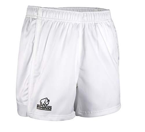 Rhino Auckland Unisex Rugby-Shorts, SS01, Uni, SS01, weiß, M