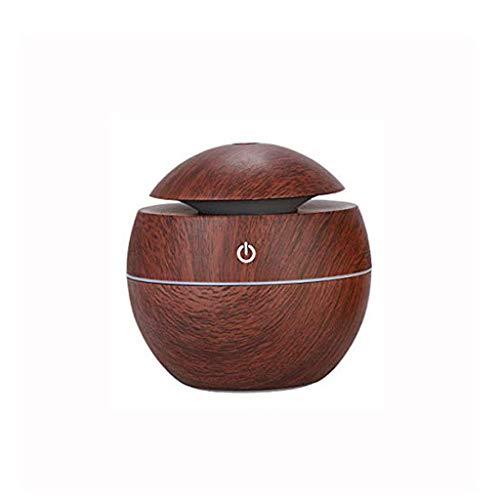 WZHZJ Humidificador, difusor de aceites con 7 Luces del Color, aromaterapia difusor con función de desconexión automática, humidificador de Vapor frío for el Dormitorio Principal -Wood Grano
