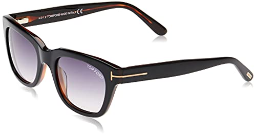 Tom Ford SNOWDON FT0237 05B Black/Other Sunglasses Grey Gradient 52mm Lens
