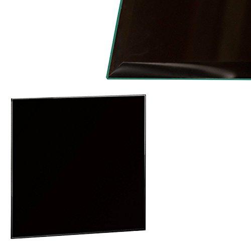 Euro Tische Glasplatte für Kaminofen - Glasscheibe mit 6mm ESG Sicherheitsglas - perfekt geeignet als Funkenschutzplatte - Verschiedene Größen (60x60cm, Schwarz)