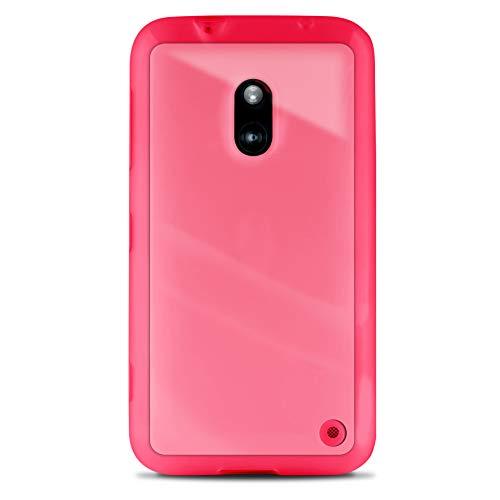 Funda Puro Clear Back para Nokia Lumia 620 Rosa