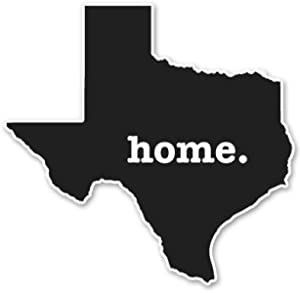 AK Wall Art Texas Home Black Vinyl Sticker - Car Window Bumper Laptop - Select Size