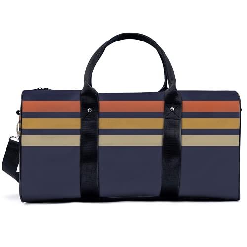 Borsa sportiva da palestra Potable Sport Duffel Bag Vintage Retrò Stripes Borsa Yoga Borsa Borsa a Spalla Borsa Da Viaggio Grande Capacità per Uomini Donne