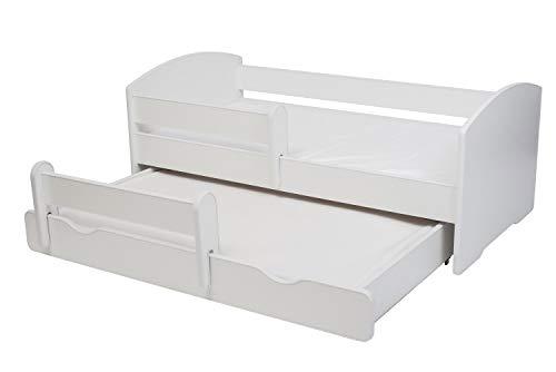 Cama doble para niños 'LUK II' Dimensiones 160 x 80 cm con colchón y barrera protectora