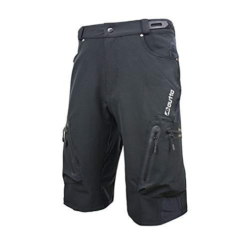 7VSTOHS - Pantaloncini da ciclismo da uomo, traspiranti, per mountain bike, corsa, arrampicata, sciolti e casual, Uomo, Nero , XXXXL:waist 37'-38'