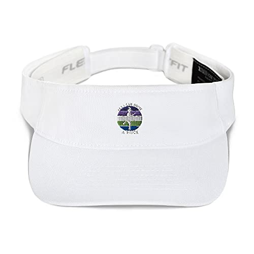 Yes I Can Drive A Stick Cute Witch Visor White