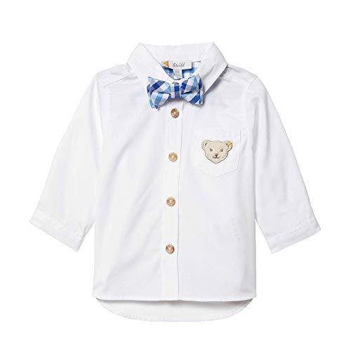 Steiff Jungen Hemd, Weiß (Bright White 1000), 80