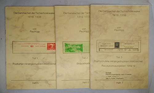 Die Ganzsachen der Tschechoslowakei 1918-1938. [3 Hefte] Teil 1: Postkarten mit eingedrucktem Wertzeichen Teil 2: Bildpostkarten. Teil 3: Postformulare mit eingedrucktem Wertzeichen - Revolutionsa ...