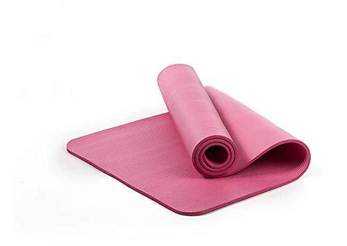 NAXIAOTIAO Nbr Tapis de Yoga Tapis de Fitness épais et antidérapant Tapis de Danse Tapis de Sport sans goût,Pink