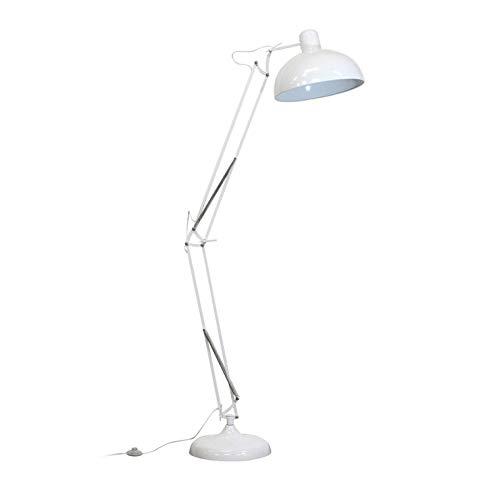 XXL - Lámpara de pie articulada (metal, 180 cm), color blanco y rojo
