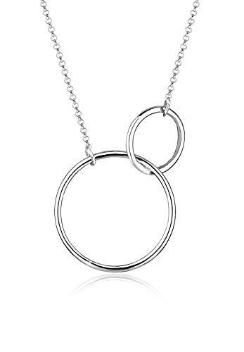 Elli Halskette Damen mit Kreis Symbolen im Geo Trend in 925 Sterling Silber
