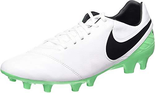 Nike Tiempo Mystic V FG, Zapatillas de Fútbol para Hombre, Blanco (White/Black-Electro Green), 40 EU