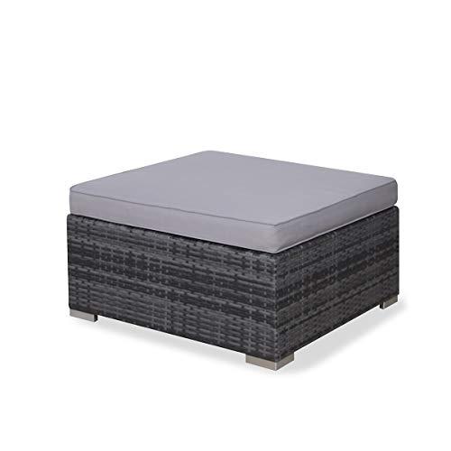 SVITA Lugano Poly Rattan Lounge Garten-Set XXL Sofa-Set Garnitur Gartenmöbel Couch-Set (XXL, Grau) - 10