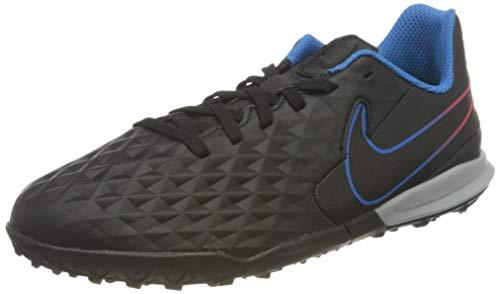 Nike Jr. Tiempo Legend 8 Academy TF Football Shoe, Black/Black-Siren Red-Light Photo Blue-Cyber, 34 EU