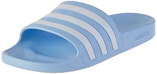 adidas CORE Women Adilette Aqua Badeschuh, Glow Blue Cloud White Glow Blue, Gr.- 37 EU