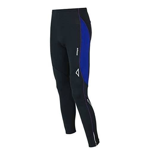 Airtracks FUNKTIONS Laufhose LANG PRO AIR/Running Hose/Tight/Kompression/Reflektoren - M - schwarz-blau