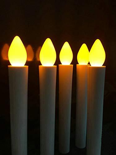 BBGSFDC Realista 200pcs / Lot sin Llama con Pilas de la Boda de Navidad LED de la Forma cónica de la palmatoria de la lámpara/Partido/Inicio/Bar/Iglesia decoración de la Tabla 17.5CM-Ámbar Brillante