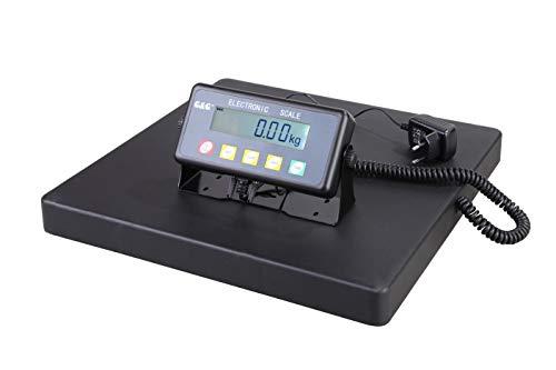 GundG Paketwaage PSB Balance pèse-colis numérique avec surface de pesage en fonte d'aluminium 40 × 40 cm 150kgx50g//10kgx20g