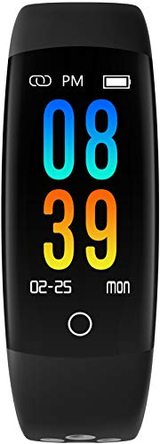 cnBro Fitness Tracker Bluetooth IP67 Waterproof Color Screen Activity Tracker Step Calorie Counter Pedometer Call & SMS Pedometer Watch for Women Men