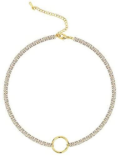 ZGYFJCH Co.,ltd Collares Collar de Moda Anillo Collar de clavícula Cadena Colgante Femenino