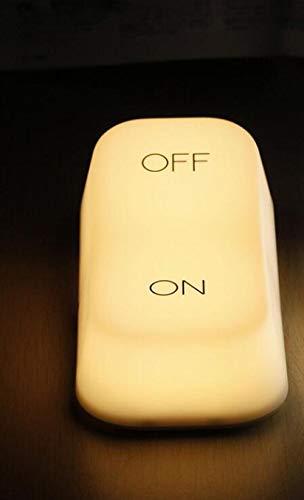 Interruptor de modelado vintage creativo lámpara led luz nocturna inducción de gravedad lámpara de interruptor de encendido/apagado para luces de dormitorio christmas-warm_white