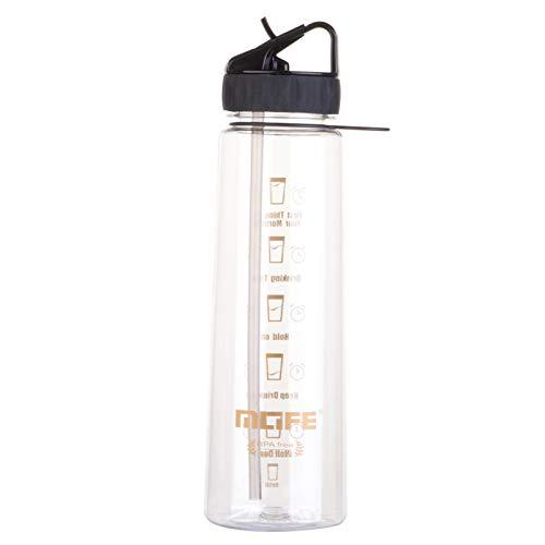 Botella de Agua de 900 ml con Pajita, Fabricada con Materiales Seguros y saludables, Apta para Deportes al Aire Libre, Jugar a la Pelota, Correr, Andar en Bicicleta