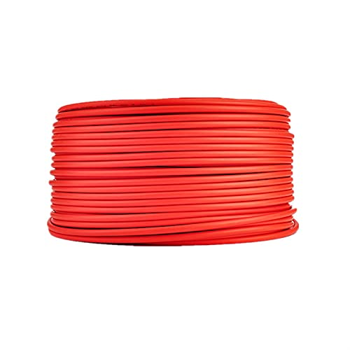 Schlauchleitung,Kabel Photovoltaik-Kabel 2,5mm2 4mm2 6mm2 Solarstromkabel-Kabel/TÜV-Kabel für PV-Panels Anschluss rot schwarz XLPE-Jacke (Color : Red, Length : 15M)