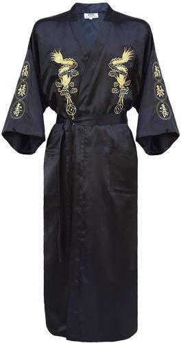 Accappatoio / Vestaglia ricamata da uomo a kimono giapponese Black M/L