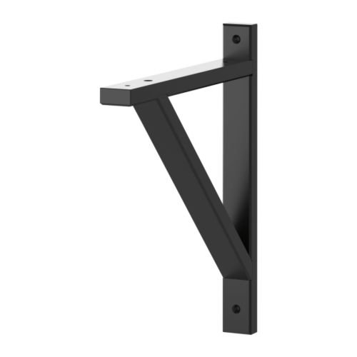 IKEA(イケア) EKBY VALTER ブラック 28 cm 20167490 ブラケット、ブラック
