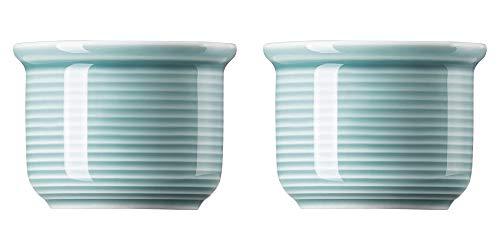 Thomas Trend Colours/Farben - Eierbecher - 2er-Set - Eierhalter Frühstücksei Ei Frühstück Geschirr Porzellan (Ice Blue (EIS-Blau), 2)