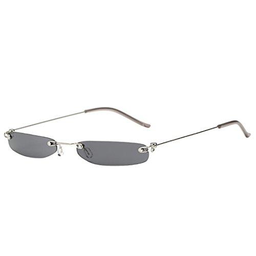 Dragon868 Herren/Damen Sonnenbrille Metallic Vintage Transparent Small Frame Sonnenbrille Retro Brillen (B)