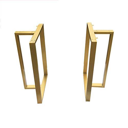 GJSN Patas de mesa, pie de niture, marco de mesa de losa dorada, patas de mesa de oficina, mesa de conferencia, mesa de bar, mesa de escritorio, patas de hierro, 40 x 70 cm, 40 x 70 cm
