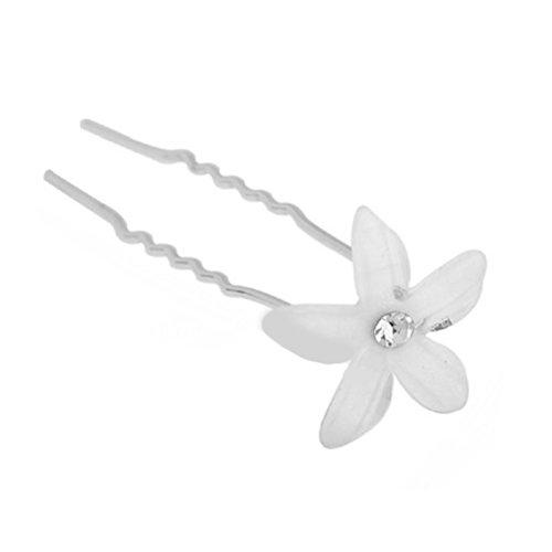 Unbekannt 12-er Set Haarnadeln Strass Rosen Perlen Blumen Blüten Haarschmuck Hochzeit Braut Kommunion Tiara