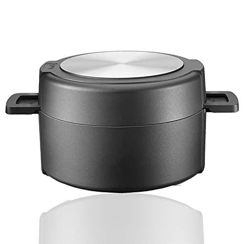 Berndes 035100 Double Round Kochgeschirrset, Kochtopf, 24 cm und Schmorkasserolle mit Glasdeckel, 24 cm