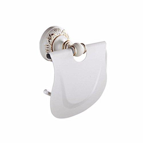 SJQKA Support de papier toilette Espace Européen De Serviettes De Papier D'Aluminium Or Blanc À Blanc Du Papier Toilette Support Matériel Hanger Laque