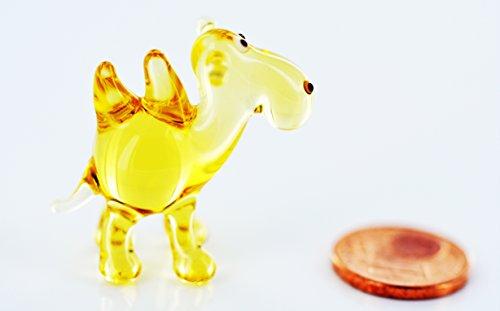 Kamel mini goud-glazen beeldje miniatuur-k-5