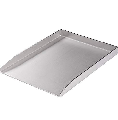 RuSchi BBQ universal Grillplatte aus Edelstahl BBQ Grillaufsatz Plancha 30x40cm